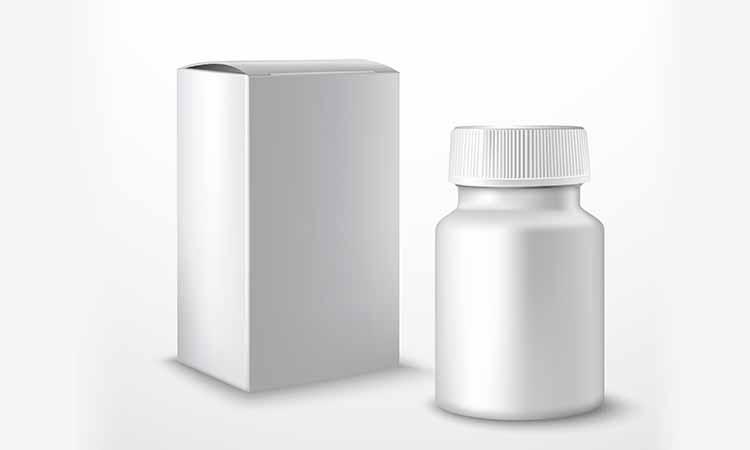 Imagem de um pote de medicamento branco