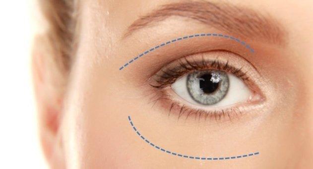 olhos claros de uma mulher loira