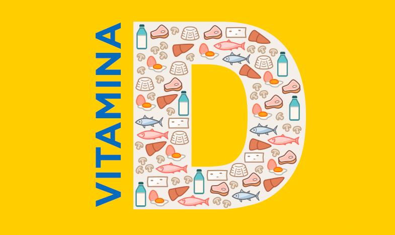imagem desenhada com o D de vitamina D